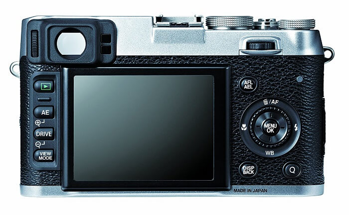 Fujifilm X100S display