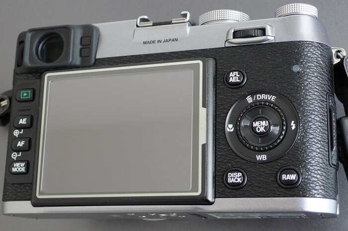 Fujifilm X100F back view