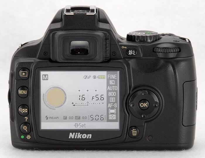 Nikon D50 back view