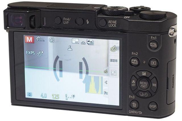 Panasonic Lumix ZS100 back view