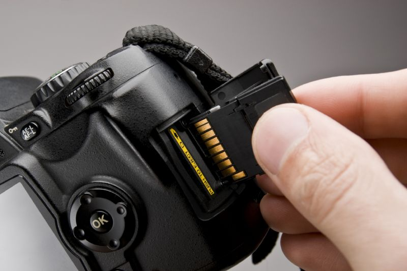 DSLR and SD card