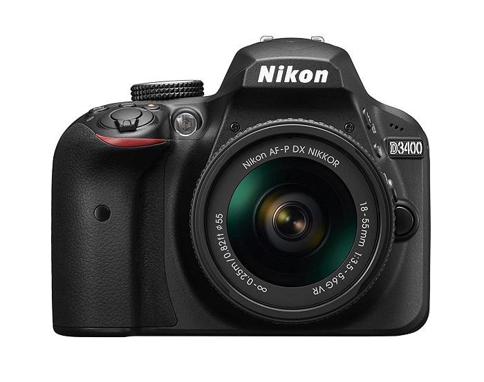 Nikon D3400 body and lens
