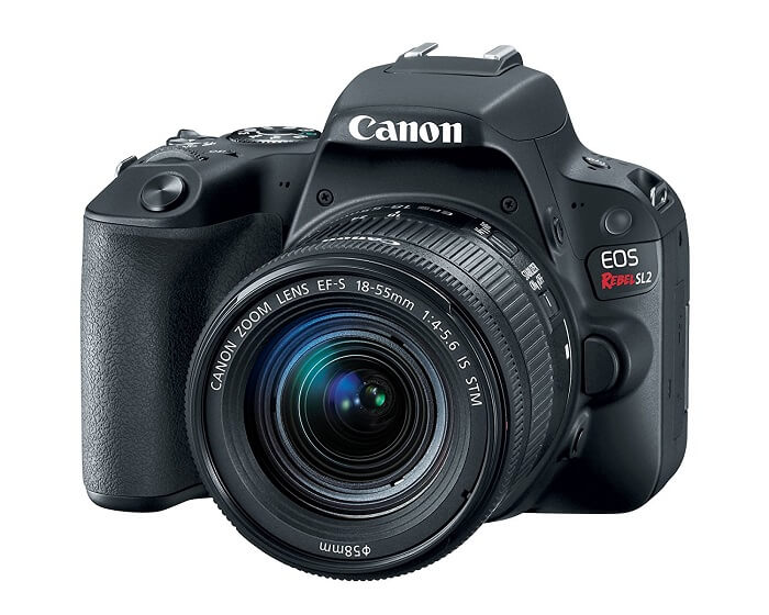 Canon EOS Rebel SL2 body and lens