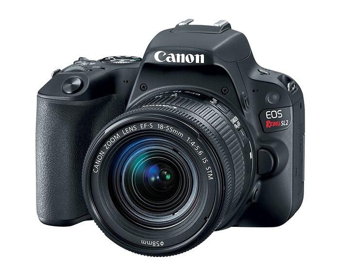 Canon EOS Rebel SL2 body and lens
