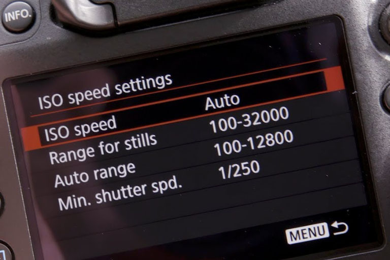 canon 80d iso speed settings